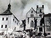 Emauzský klášter po bombardování