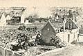 La aldea de Lidice fue incendiada y posteriormente arrasada