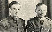 Jan Kubiš y Jozef Gabčík (derecha)