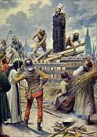 Upálení mistra Jana Husa vKostnici 6. července 1415