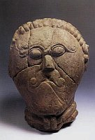 Celtic limestone head from Msecke Zebrovice