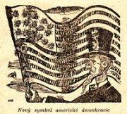 """Karikatur: """"Neues Symbol der amerikanischen Demokratie"""""""
