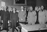 Munich Agreement - Chamberlain, Daladier, Hitler, Mussolini and Ciano