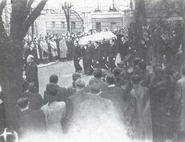 The funeral of Jan Opletal