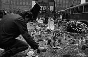 People honour Jan Palach on Wenceslav Square