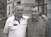 Josef Simák (a la izquierda) con su hermano (Foto: Ludek Navara)