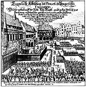 27 noblemen was executed on Prague's Old Town Square