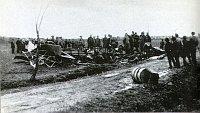 Les ruines de l'avion de Štefánik