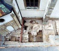 Archeologický průzkum hřbitova, foto: Petr Baran aPetr Francán (www.brno.cz)