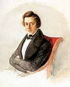 Chopin in 1835/1836, ein Aquarell von Maria Wodzińska