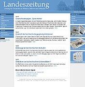 Webseite der Landeszeitung