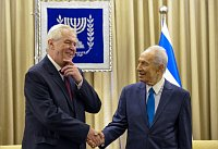 Miloš Zeman, Shimon Peres, photo: isifa / Sipa - USA / Xinhua
