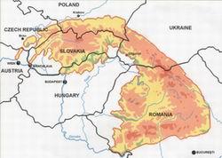 Carpathian Mountains On World Map.Carpathians Mountains World Map
