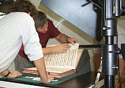 The digitisation of Zlutice hymn-book, photo: AiP Beroun