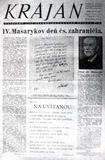 Titulní strana časopisu ČÚZ Krajan, vycházel 1932-1939