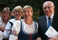 Sylva Berková con Václav Klaus en Argentina