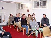 Setkání krajanů v Oslu, druhý zleva Karel Babčický