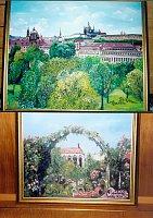 Ukázka obrazů s námětem Prahy