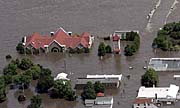 National Czech & Slovak Museum in Cedar Rapids during the floods in 2008, photo: archive of National Czech & Slovak Museum in Cedar Rapids
