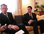 L'ancien roi de Roumanie Michel 1er et le Prince Radu