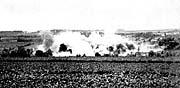 The burning village of Lidice