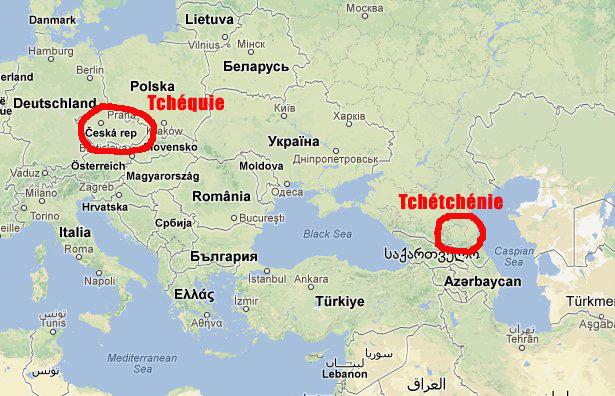Les Américains et la géographie : la Tchétchénie n'est pas la