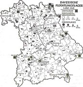 Bavarian refugee camps in 1949