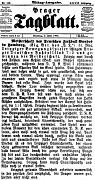 Prager Tagblatt noch vor dem Zweiten Weltkrieg