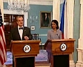 Karel Schwarzenberg et Condoleezza Rice, photo: CT24