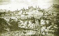 La ciudad de Brno en 1843
