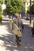 On the way to Eisbach River Surfing