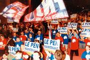 Rally of Le Pen supporters