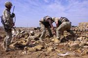 Polish soldiers uncover weapon cache in Iraq