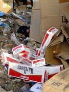 Destruction of counterfeit cigarettes