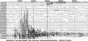 This image provided by the U.S. Geological Survey shows a seismogram chart of Inchon, Republic of Korea during North Korea's reported nuclear test, Monday, Oct. 9, 2006. (AP Photo/USGS)