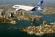 Airbus A380 over Sydney
