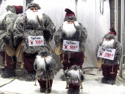 "Figures of traditional swedish Santa - ""Tomte"""