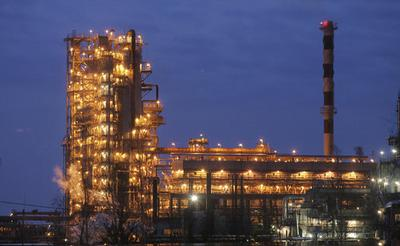 Oil-refining plant located in Belarus's town of Mozyr