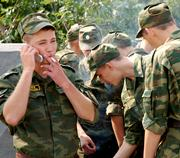 Russian conscripts in Moscow