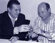 Traian Basescu drinking