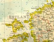 Old map of Estonia with swedish place names