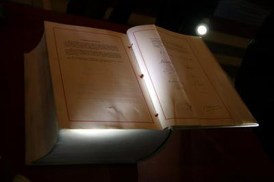 The original copy of the treaty which established the European Community in 1957