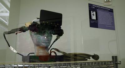Virtual reality glasses prototype in Computer History Museum