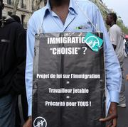 Protester against proposed immigration law
