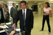 Nicolas Sarkozy during this weekend's parliamentary election
