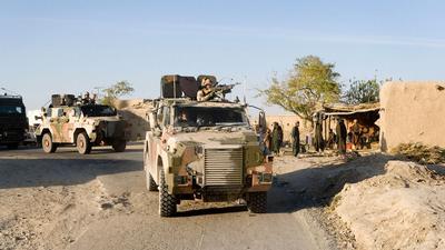 Patrol of Dutch Bushmaster Vehicles in Afghanistan