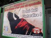 suffering isn't a spectacle - billboard from anti-corrida campain
