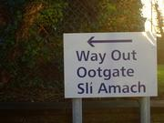 Multinational Sign in English, Scotish and Irish