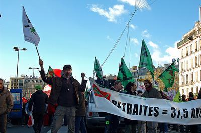 Recent protest in Paris