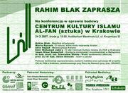 Invitation to a discusion about the centre, lead by Rahim Blak